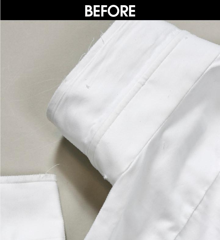 REPAIR04|カフスと襟の擦り切れ